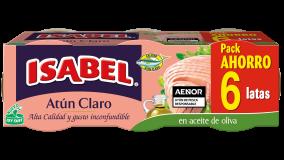Pack 6 latas Atún Claro en aceite de oliva 420g (6x70g)