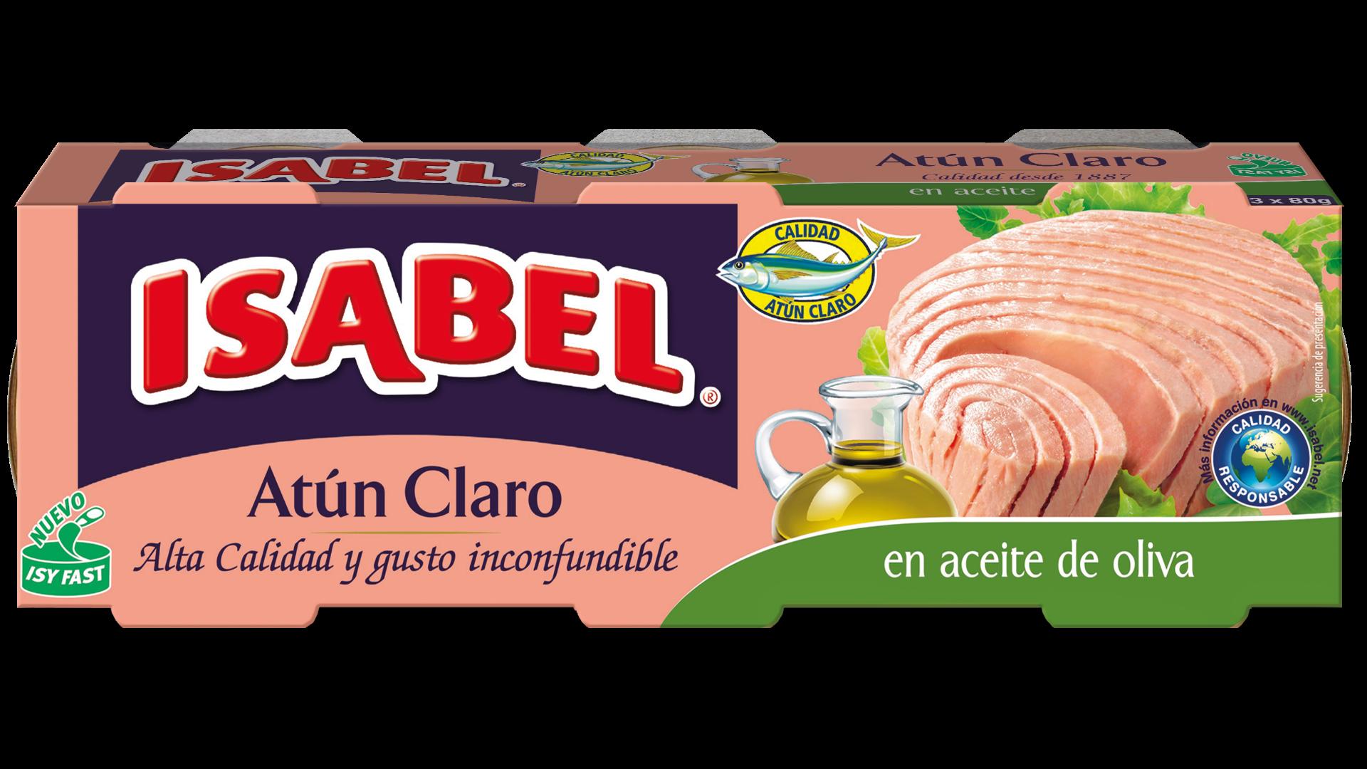 Latas De Atún Claro En Aceite De Oliva De Isabel Delicioso