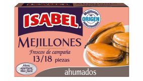 Lata 13/18 uds. de mejillones ahumados 115g