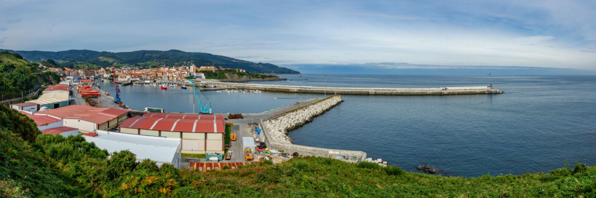 Panorámica del puerto de Bermeo