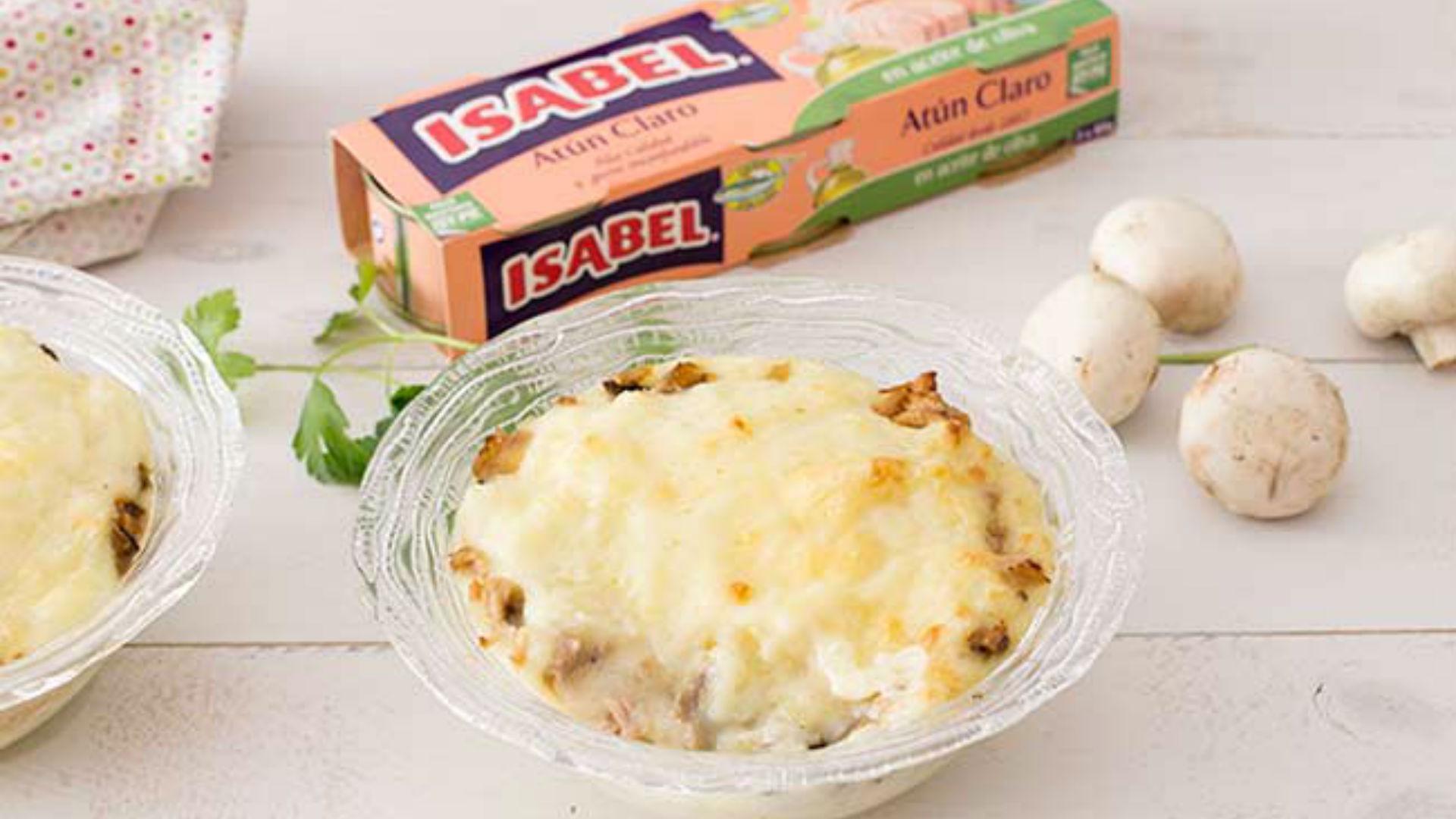 Pastel de atún con puré de patata