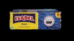 Pack 6 latas de Atún Gran Sabor Isabel en aceite de girasol 420g (6x70g)