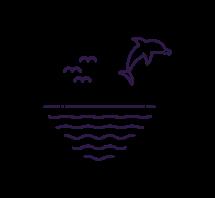 icono delfín océano